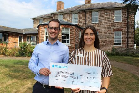 Marcus with Amy Shaw, senior corporate development fundraiser at Willen Hospice.