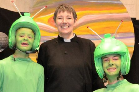Rev Cate Irvine, the new All Saints vicar in Leighton Buzzard