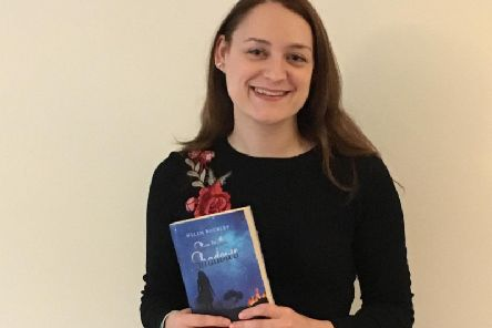Helen with her book, Star in the Shadows