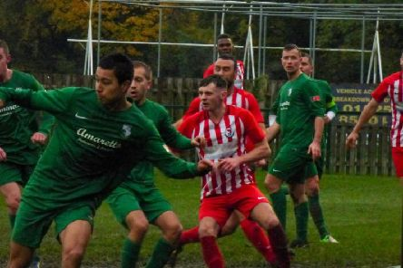 Action from Saturday's 4-2 league win over Edgware Town  PICTURES BY ANDREW PARKER