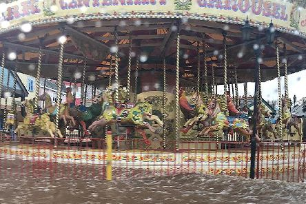 Drayton Manor was left badly flooding following the storm at the weekend