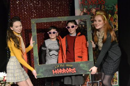 At Laurelhill Community College's open night it was selfie time in the Drama Department with some of the Ronnettes from recent production, 'Little Shop of Horrors'.