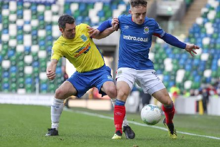 Linfield's Joel Cooper finished with two goals against Ballymena United.