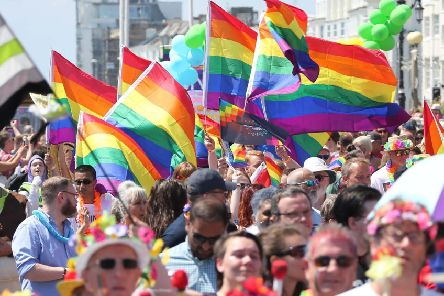 Worthing Pride's first event last year. Picture: Eddie Mitchell