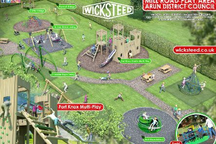 Design for the Fort Knox-themed play area in Mill Road, Arundel