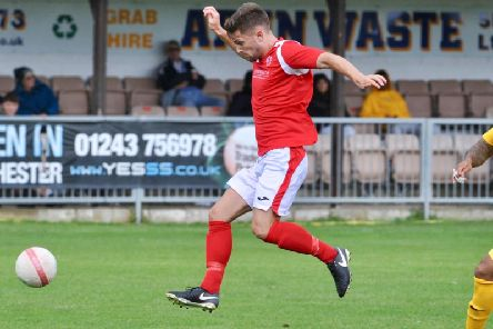 Max Stacey struck in Arundel's win at Billingshurst. Picture by Stephen Goodger