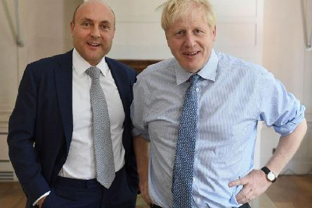 Andrew Griffith with Prime Minister Boris Johnson