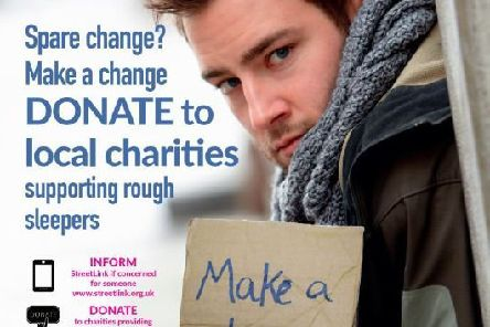 The 'Spare change - Make a Change' campaign has been launched by Arun District Council this week, urging people to donate to homeless charities rather than to individuals living on the street. SUS-191113-131622001