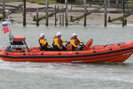 The Renee Sherman lifeboat from the Littlehampton RNLI station