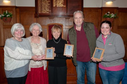 Some of Last years  winners. Littlehampton and Wick friends of  St Barnabas , Alan Moss and Michelle Bly