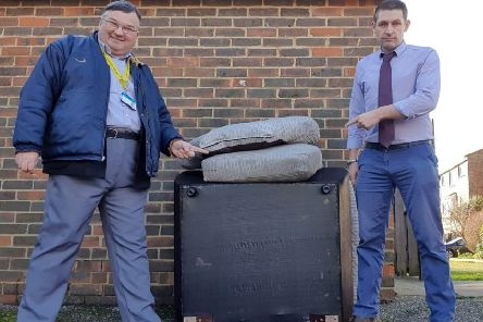 An example of the fly-tipping in Worthing