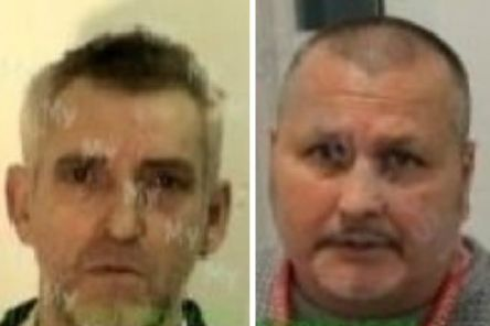 Convicted killers Thomas Lawrence McCabe (left) and Samuel McKinley are both 'unlawfully at large'