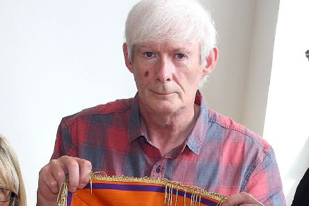 Wilson Sherrard, pictured in 2013, when he made special collarettes to mark Londonderry's 'City of Culture' title that year