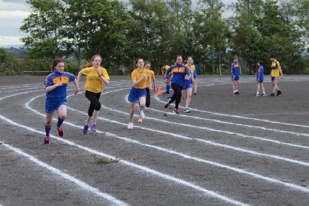 Year 8s in action on Loreto College Sports Day.