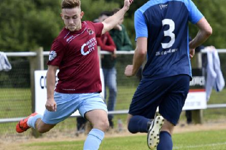 Institute's Mikhail Kennedy pictured in action against Newbuildings United on Saturday. DER2819-110KM