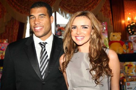 Nadine Coyle pictured with ex-boyfriend Jason Bell during a visit to Newry. (Photo: Pacemaker)