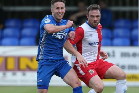Dungannon Swifts' Michael Carville scored their winner at Institute.