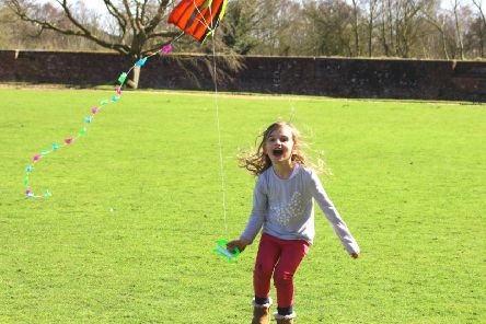 Flying a kite: #7 on the list of things to do before you are 11-and-three-quarters