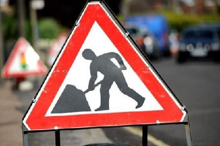 Roadworks on the A153 between Louth and Horncastle