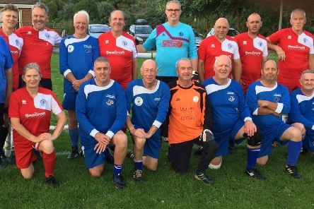 The 'Sutton Sharks' walking football team.