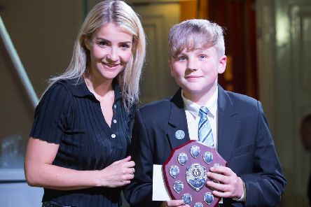 Visit by Helen Skelton to Somercotes Academy to meet students and later to present awards at Louth Town Hall. (Photo: Sean Spencer/HullNews)