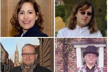 Clockwise from top-left: Victoria Atkins, Ellie Green, Peter Hill, Ross Pepper.