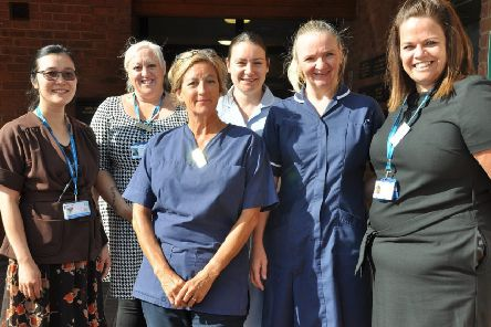 Members of the James Street Family Practice team, where the first skin clinic was launched.