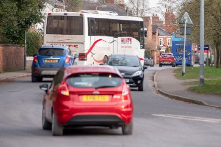 Busy traffic on Mareham Road. Picture: John Aron.