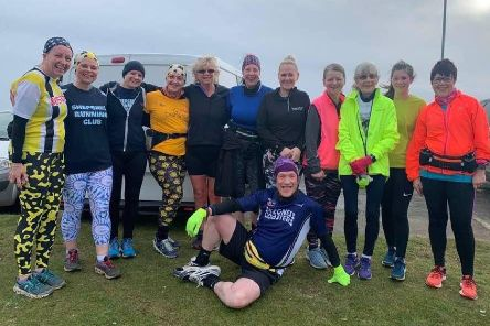 Runners from Alford, Mablethorpe, Skegness, Boston and Shepshed at the Skegness Parkrun EMN-200217-144954002