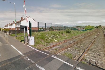 The railway line at Lake Street, Lurgan. Pic by Google