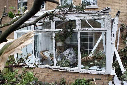 A house in Northern Ireland was badly damaged during Storm Ali in 2018. (Photo: Presseye)