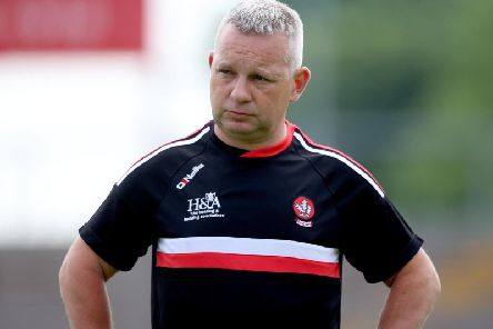 Derry under 20 manager Mickey Donnelly.
