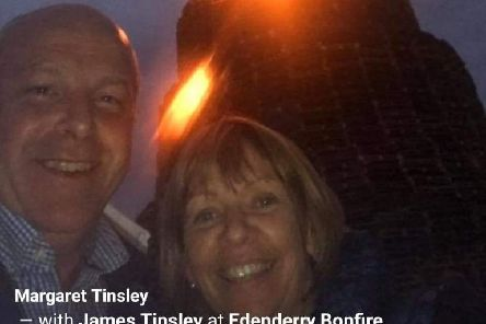 Deputy Mayor of Armagh, Banbridge and Craigavon Council Margaret Tinsley at Edenderry bonfire on Monday