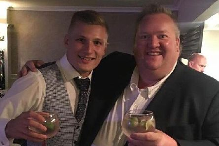 Andrew Mitchell with Paddy Allen at his wedding just a few days ago