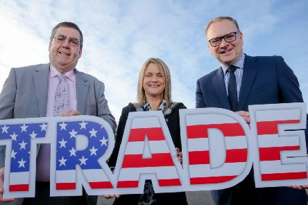 Lord Mayor of Armagh City, Banbridge and Craigavon, Councillor Mealla Campbell, will lead a joint civic and business delegation on a trade mission to North America this week, accompanied by Council Chief Executive Roger Wilson (far left) and Chair of the Council's Economic Development and Regeneration Committee Alderman Stephen Moutray