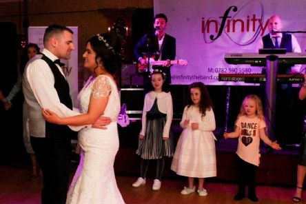 Infinity getting the bride and groom off on the right foot
