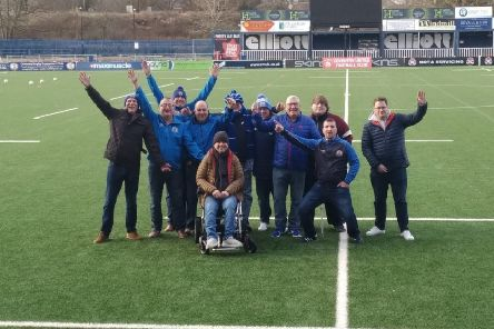 A group of 11 football fans from Victoria Glenavon Supporters Club are stranded in Coventry due to a flight cancellation