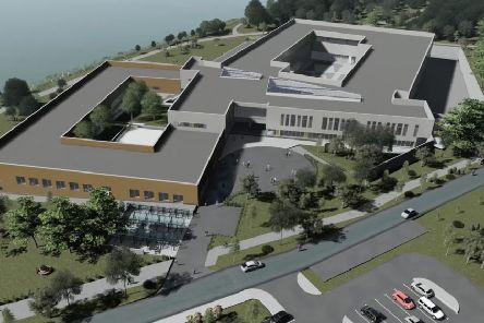 Artists impression of the new Southern Regional College campus in Craigavon
