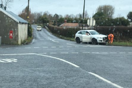 Crash at Red Lion crossroads Portadown