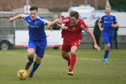 Joe Mead in action for Dunstable