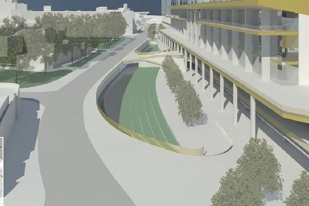 An artists impressions of how Power Court could look