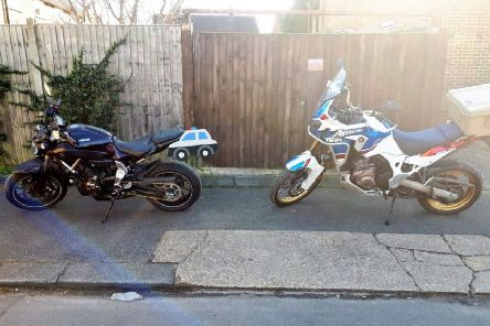 Bikes found in a garden in Stopsley. Photo from Luton Community Team Twitter page