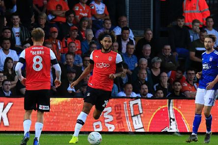 Midfielder Izzy Brown on his Luton debut in midweek