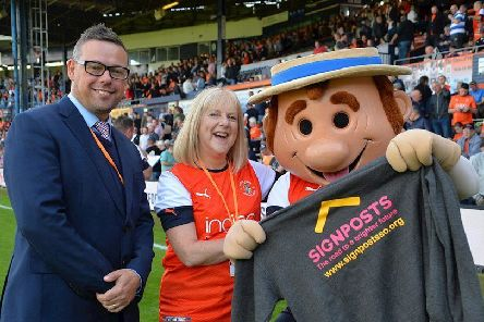 Luton Town FC has chosen Signposts as its charity of the year