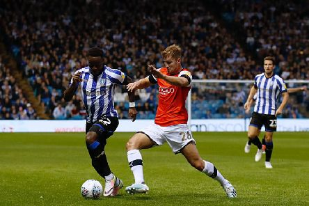 James Breen in action against Sheffield Wednesday on Tuesday night