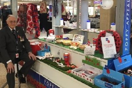 The Royal British Legion will open a pop-up shop at The Mall Luton as part of this year's Poppy Appeal