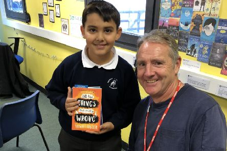 Stewart Foster visited Stopsley Community Primary School.