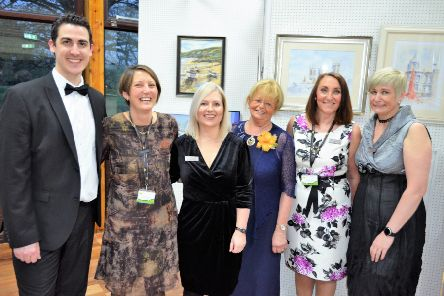 Lindsey Lodge Hospice's Fundraising Team pictured at last year's Art Exhibition and Sale. EMN-190302-223317001