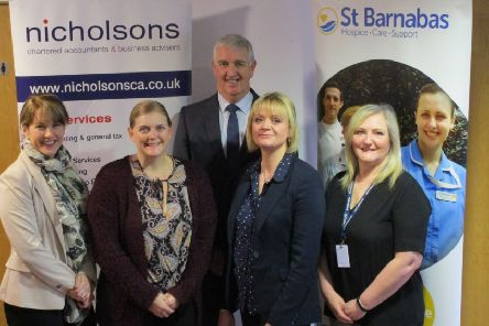Nicholsons has chosen St Barnabas as their charity of the year EMN-191004-123744001