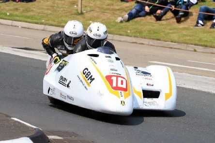 Gary Bryan and Phil Hyde on their way to a personal best lap time. Picture: Clare Freestone EMN-191006-180238002